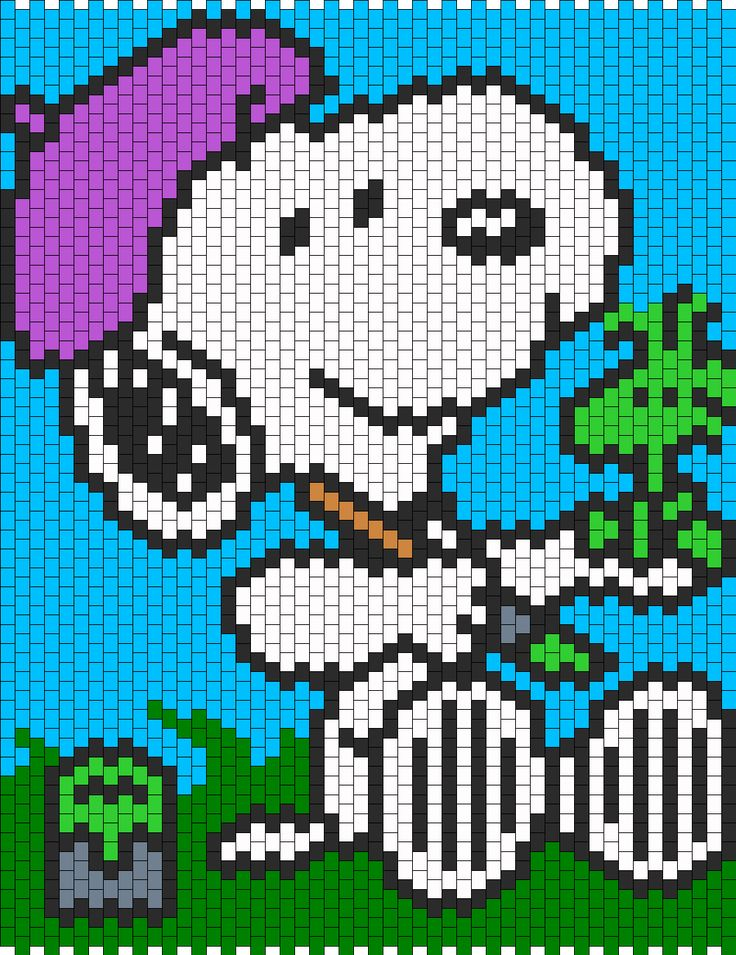 Snoopy Painting Woodstock Bead Pattern
