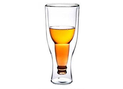 Bottoms Up Glass 0,35L Ølglass med dobbel vegg