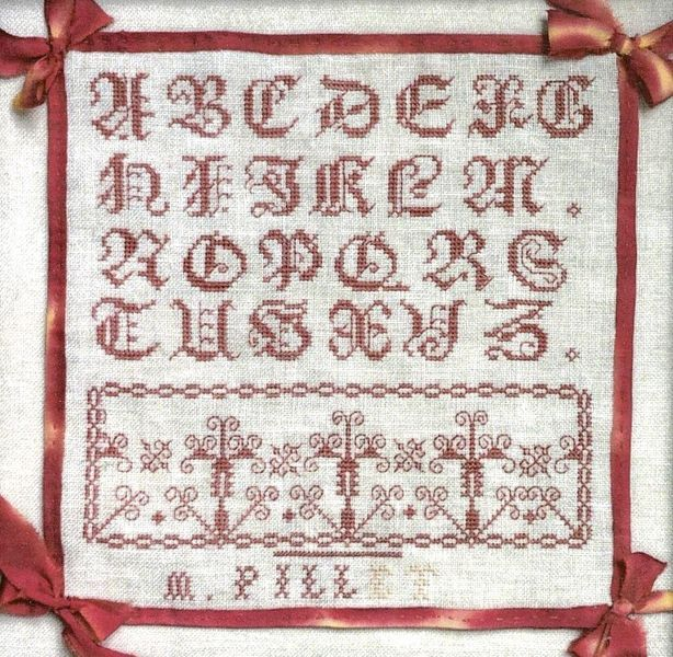 M Pillet Cross Stitch Chart
