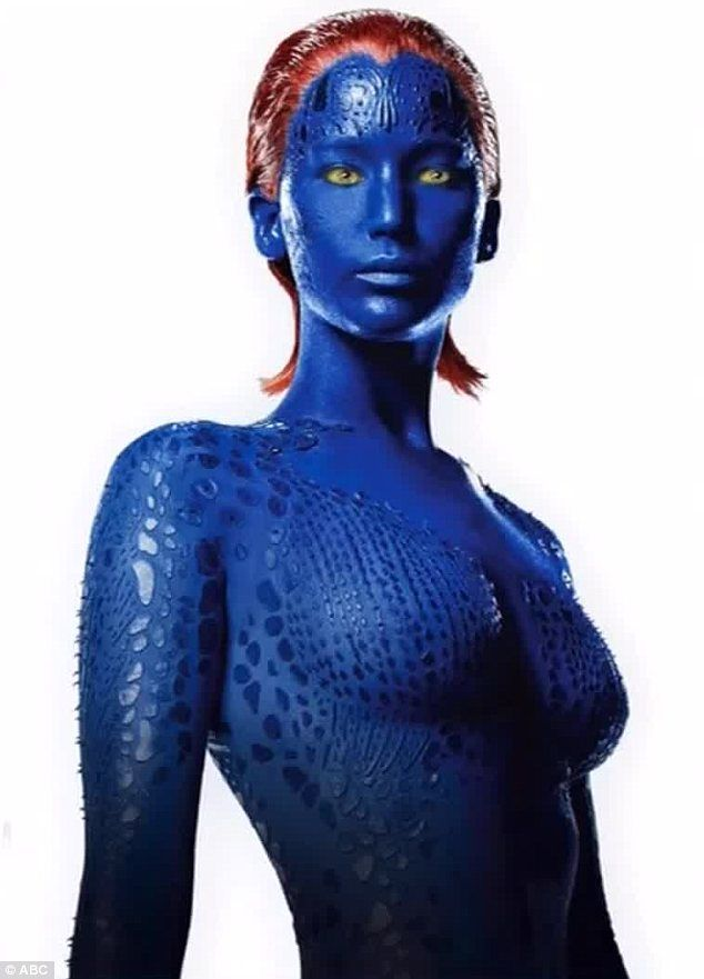 Jennifer Lawrence.....X-Men: Days Of Future Past (2014) I really want to go watch the movie but I'm really buzy so I can't :(