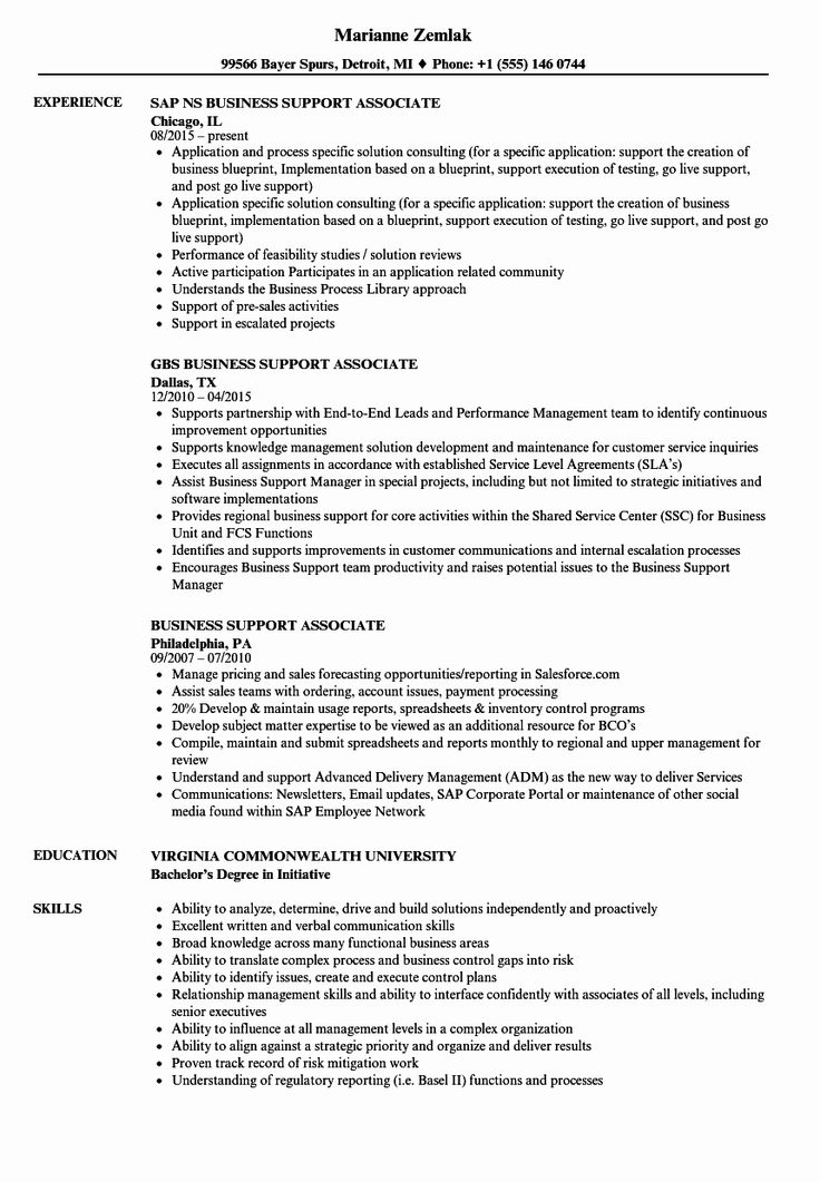 Associate Product Manager Resume Luxury Business Support