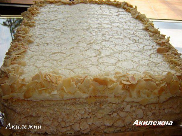 """Предлагаю вашему вниманию интересный вариант """"Киевского торта"""". Автор этого рецепта """"Акилежна"""", поблагодарим ее за восхитительный рецепт!Киевский торт -самый любимый торт в моей семье. Нежный ! Возд…"""
