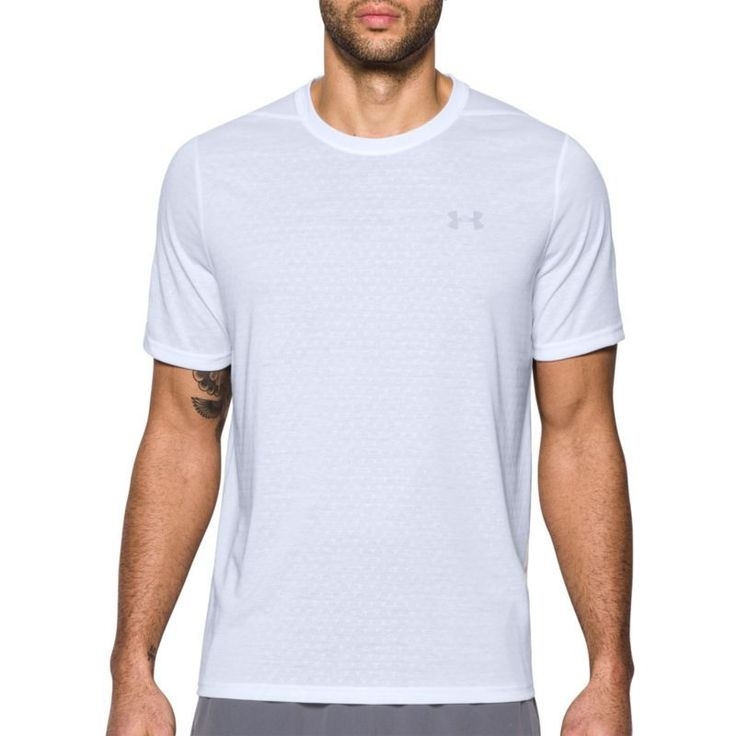 Under Armour Men's Threadborne Siro Embossed Print T-Shirt, Size: Medium, White