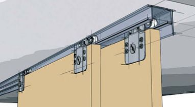 hardware for multiple track barn doors room divider - Google Search