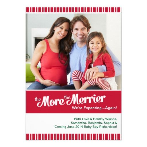 Christmas Pregnancy Photo Card - Expecting