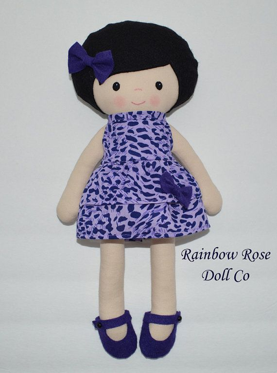 Cloth Doll Pattern PDF Rag Doll Sewing Pattern Violet