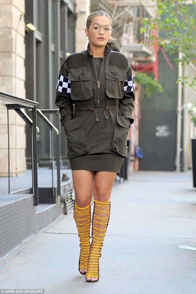Standing out:Rita Ora was back to her signature eclectic style as she stepped out in New York City on Thursday