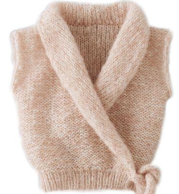 Modèle cache coeur effet poudré - Modèles tricot layette - Phildar