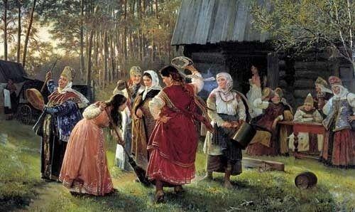 Забытые свадебные обряды России (статья + 8 фото)