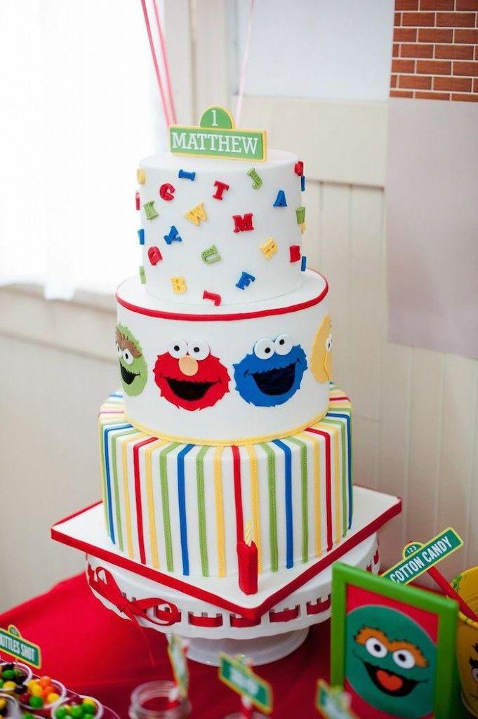 Sesame Street themed 1st birthday party via Kara's Party Ideas KarasPartyIdeas.com Invitation, cake, food, supplies, recipes, and MORE! #sesamestreet #sesamestreetparty (40)