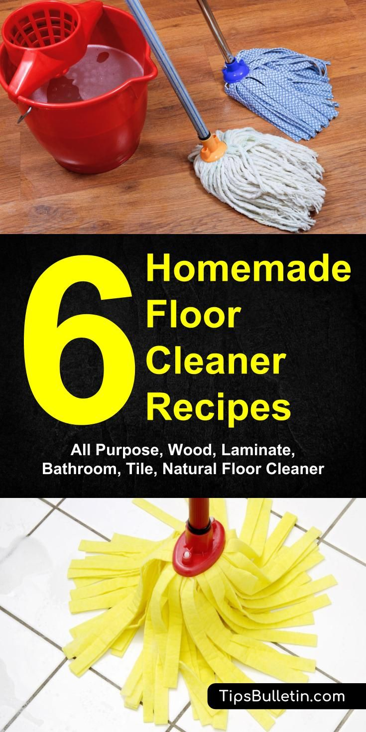 6 homemade floor cleaner recipes - all-purpose, wood, laminate, bathroom, tile, natural floor cleaning - Leave the commercial floor cleaners behind, make a homemade floor cleaner that will get your floors sparkling clean.