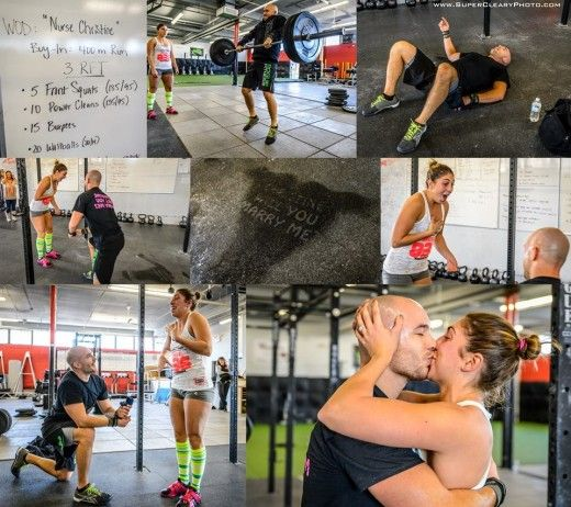 Hush hush now. We'll all find our WOD partners soon! Congratulations to the couple!