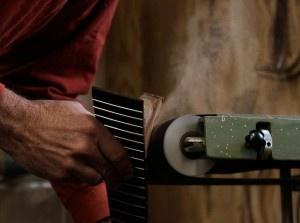 Custom handmade acoustic guitar in the making