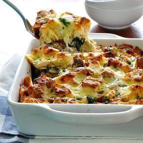 Ovenschotel met spinazie en kip