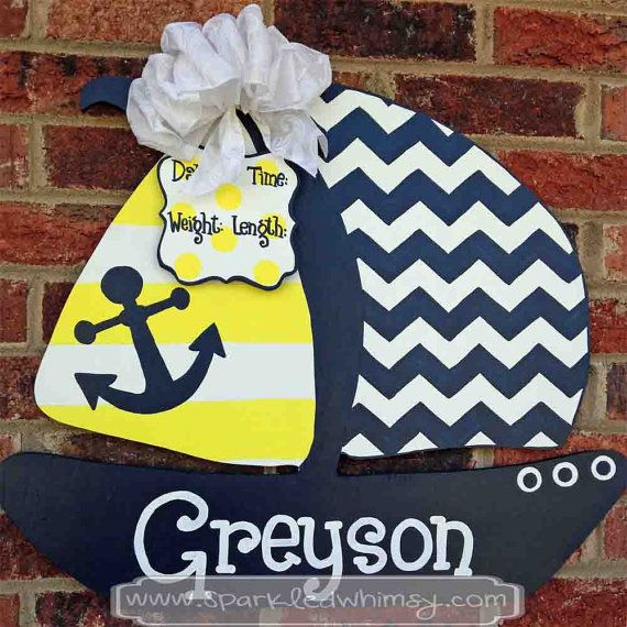 Hey, I found this really awesome Etsy listing at https://www.etsy.com/listing/186227852/personalized-baby-announcement-sailboat