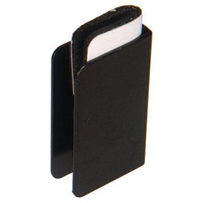 Hillman 881687 2-Pack Black Cabinet Strike Plate
