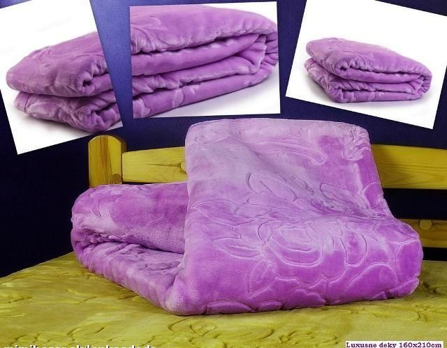 Deka 200x240 fialové barvy