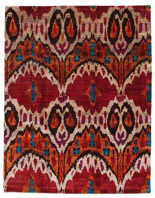 Tapis Sari pure soie VEXC4 238x305 de Inde - Achetez vos tapis chez CarpetVista