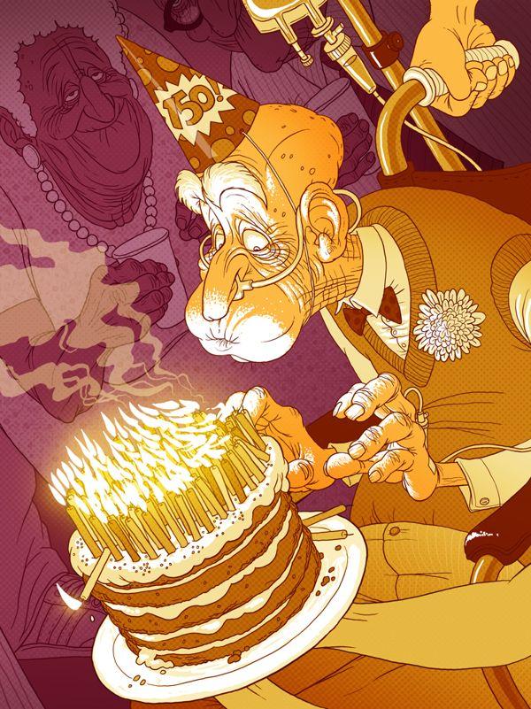 Editorial illustration 2012-2103 by Denis Zilber, via Behance