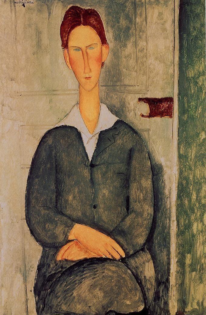 Giovanotto dai Capelli Rosse Amedeo Modigliani (1919) Private collection Painting - oil on canvas