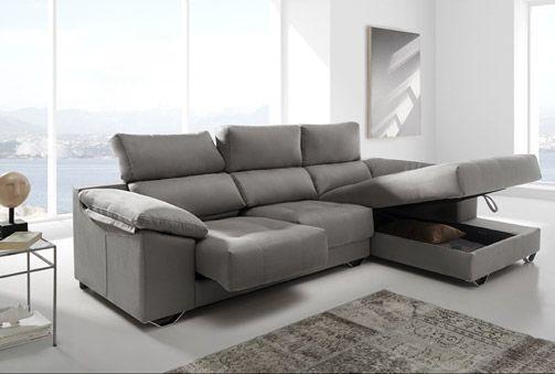 629€ Sofá con asientos deslizantes, reclinables y arcón en 3 colores diferentes. #sofá #salón #comodidad  Deskontalia Productos - Descuentos del 70%
