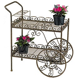 @Overstock - Add character to your garden with this unique metal tea cart.  Looks like a cute tea cart in the making to me!