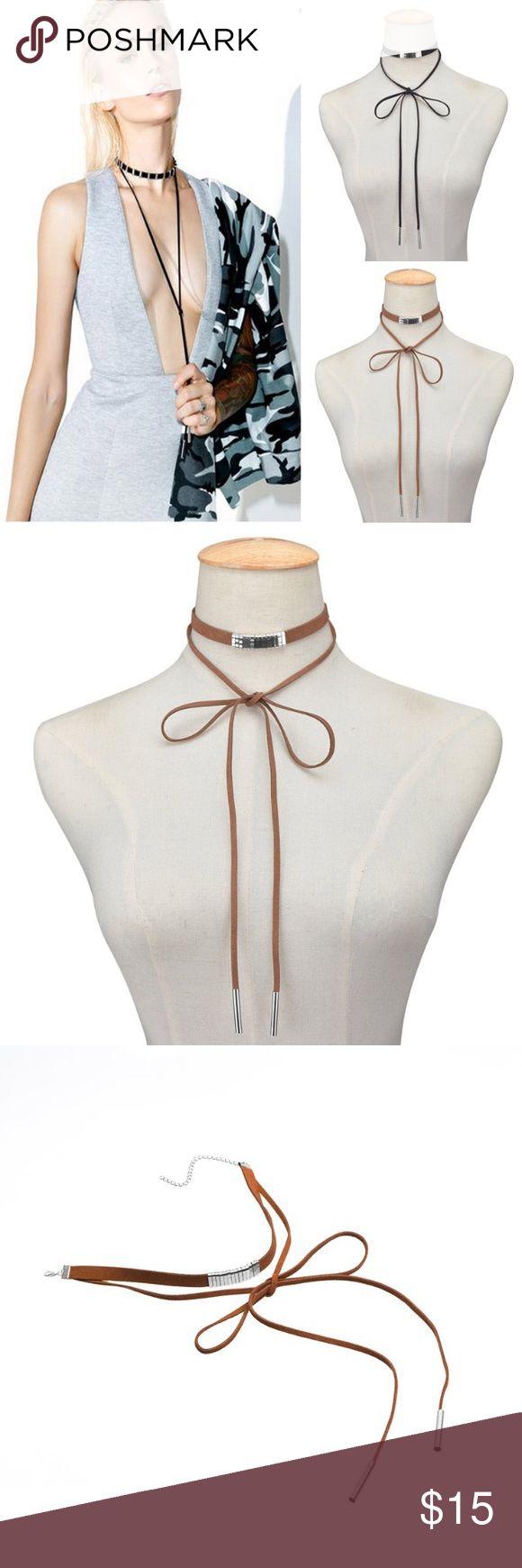 Bohemian Long Necklace Hot Newest ! Fashion bohemian long velvet necklace. Brown color! Jewelry Necklaces