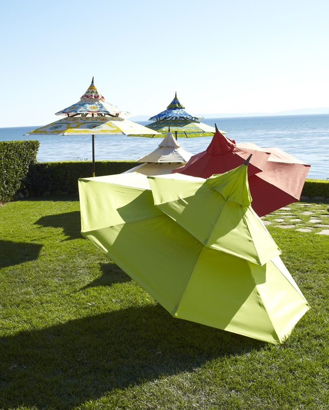 Check out these super fun patio umbrellas from PIER Click image - 25+ Best Ideas About Asian Outdoor Umbrellas On Pinterest All