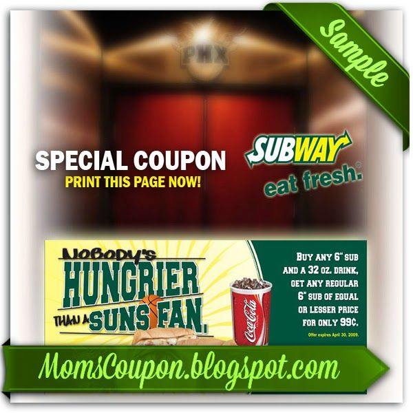 printable Subway coupons 20% February 2015