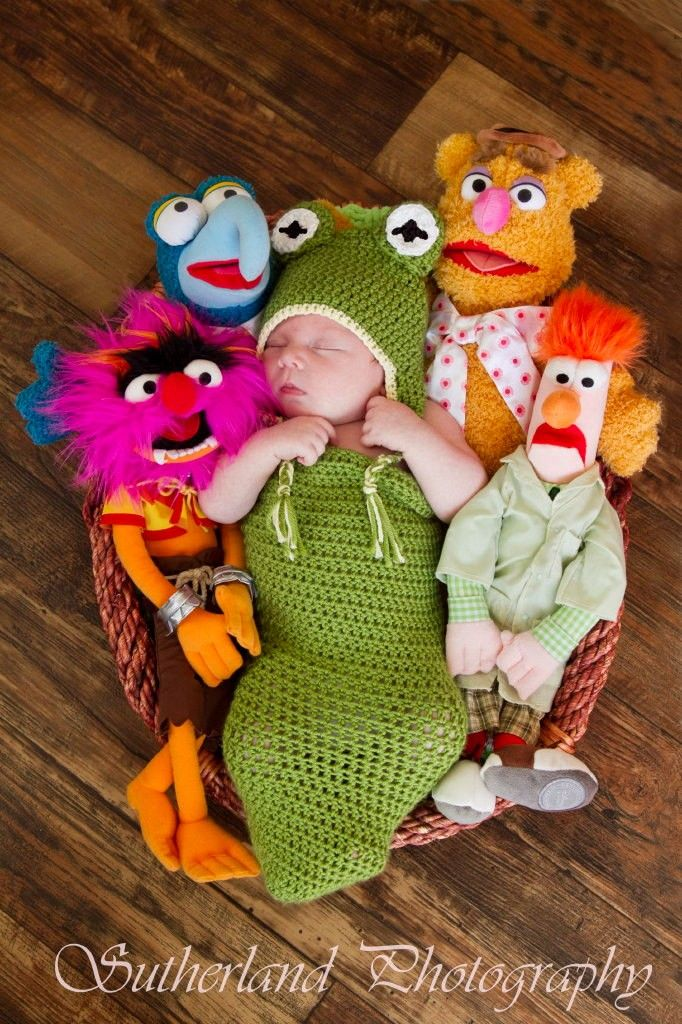 Baby froggy earflap beanie and cocoon set - 2014 DIY Kermit The Frog for Kids