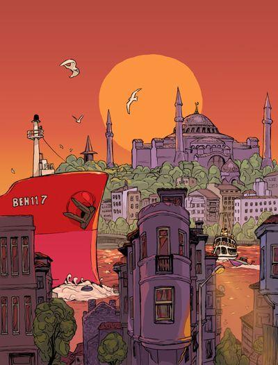 Istanbul by Behnan Shabbir, via Behance (www.illustrationserved.com)