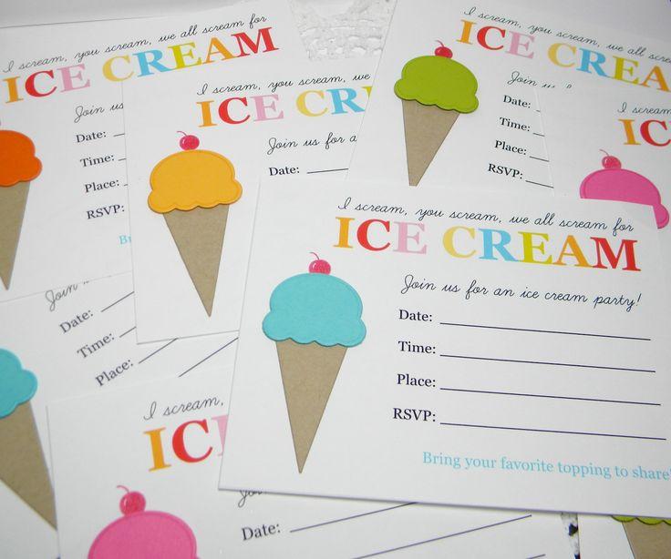 ice cream stamp set
