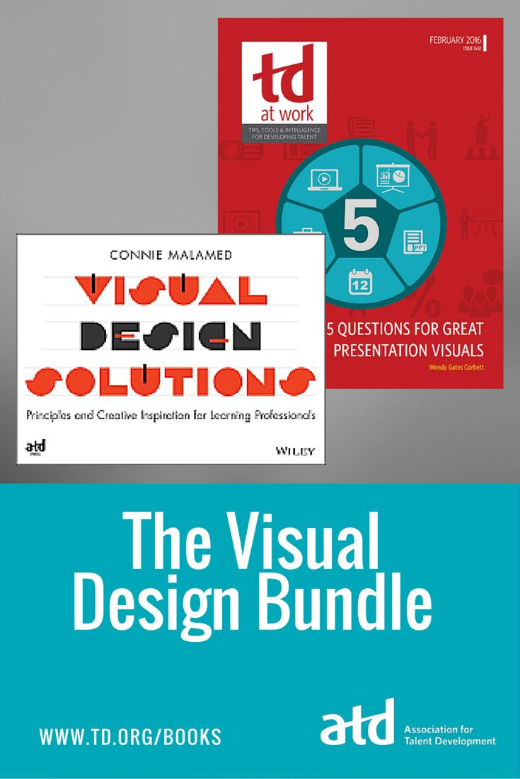 No matter how compelling your words are, they'll be more powerful when paired with visuals. ATD's new Visual Design Bundle helps training and talent development professionals elevate their visuals to engage learners.