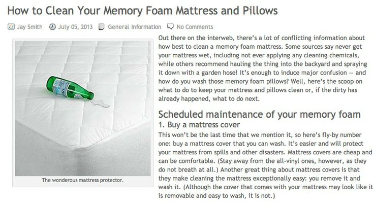 the best ways of how to clean your memory foam mattress and pillows on the web four tips every. Black Bedroom Furniture Sets. Home Design Ideas