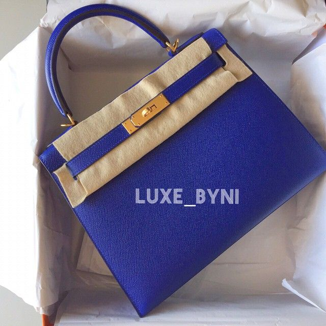 Ultimate Dream Bag - Hermes Kelly 28 Sellier Blue Electric Epsom ...