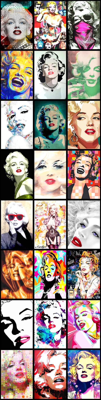 Marilyn Monroe Pop Art Collection