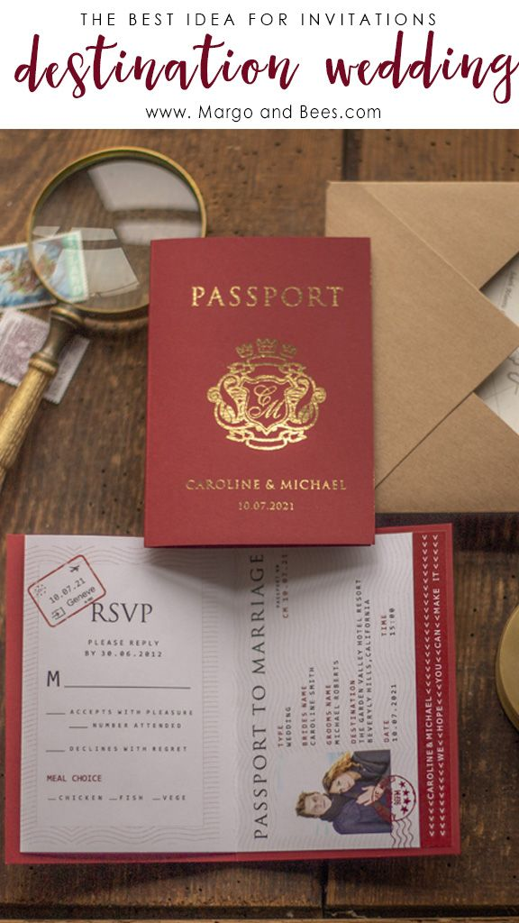 Passport Wedding Invitations Perfect For Destination Wedding