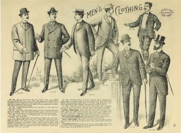 late victorian fashion men - photo #6