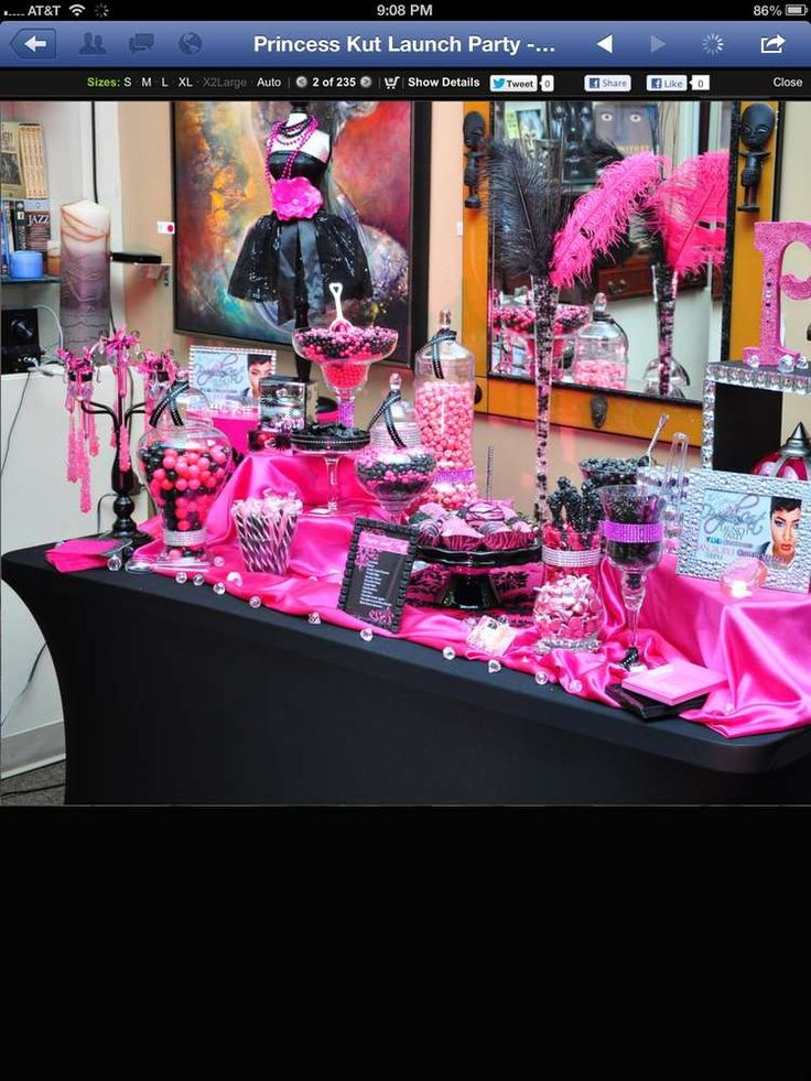 Hot Pink And Black Launch Party Party Ideas In 2019