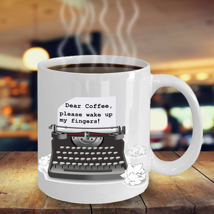 Funny Writers Block Mug, Writer Mug, Writer Gift, Author Gift, Writer Desk Decor, Office Decor, Desk Accessories, Motivational Mug by PortunaghDesign on Etsy