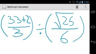 MyScript Calculator Is A Handwriting-Based Number Cruncher For Android