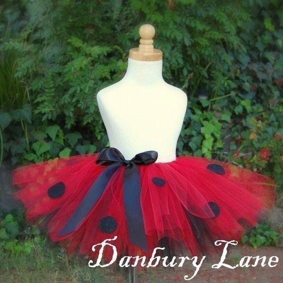 Ladybug Tutu Halloween costume 1st Birthday Baby by DanburyLane, $27.95
