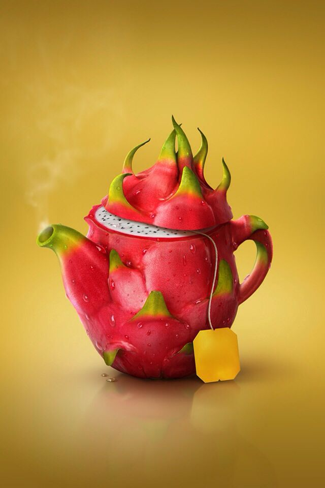 Dragon fruit teapot!