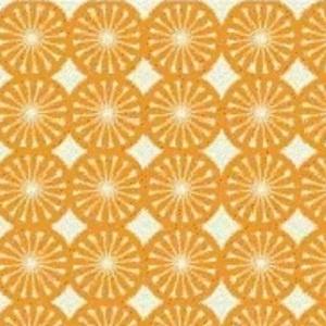 Maude Asbury - Kitchy Kitchen - Wedge Geo in Orange: kitchen curtains