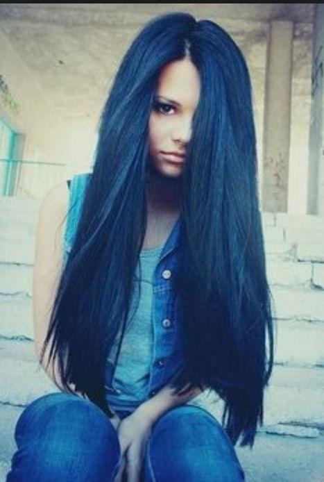 dark midnight blue hair midnight blue hair gorgeous hair pinterest