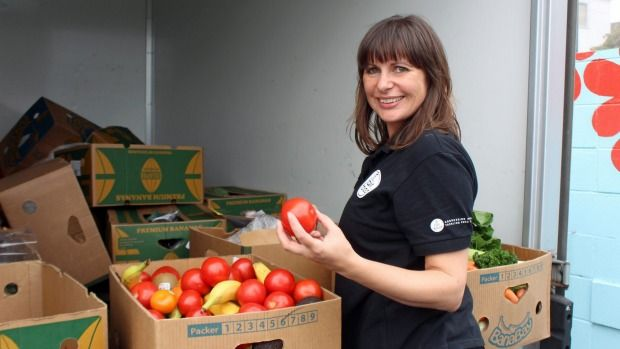 A charity organisation is feeding hungry families with leftover food from supermarkets.
