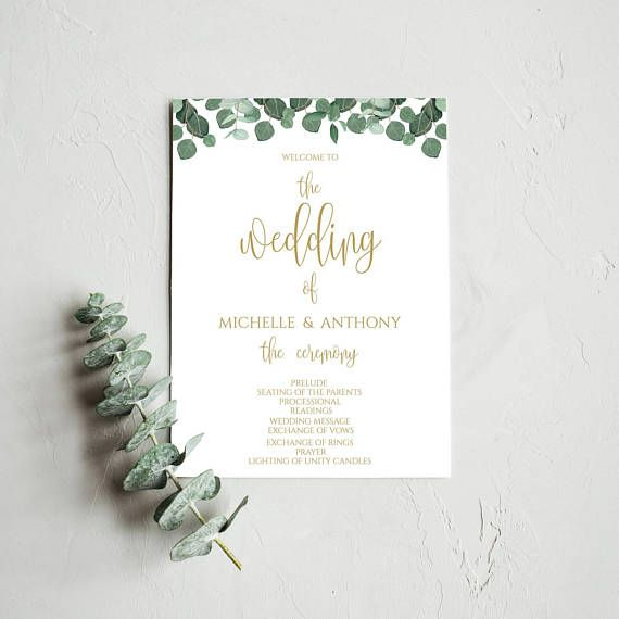 DIY Printable Wedding Program Template, DIY #weddings #invitation @EtsyMktgTool http://etsy.me/2z9Aq4P #editableprogram #fans #diyprogram