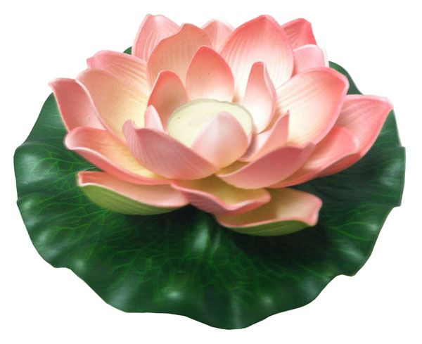 "Foam Lotus Floating Water Lantern Pink Color    Material: foam  Diameter: 7""  Lighted by a tealight candle (included)"
