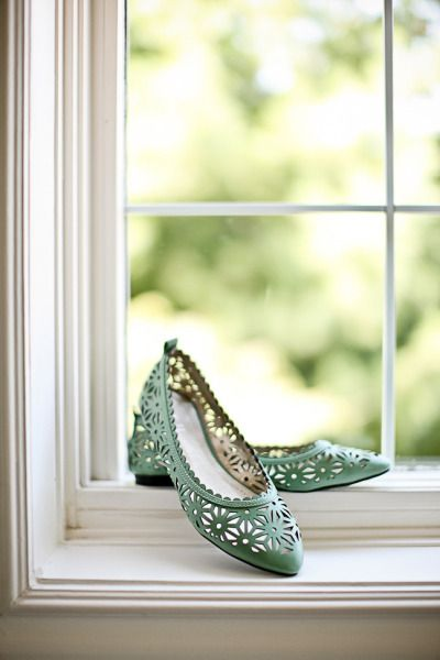 mint wedding flats. First Comes Love Photo