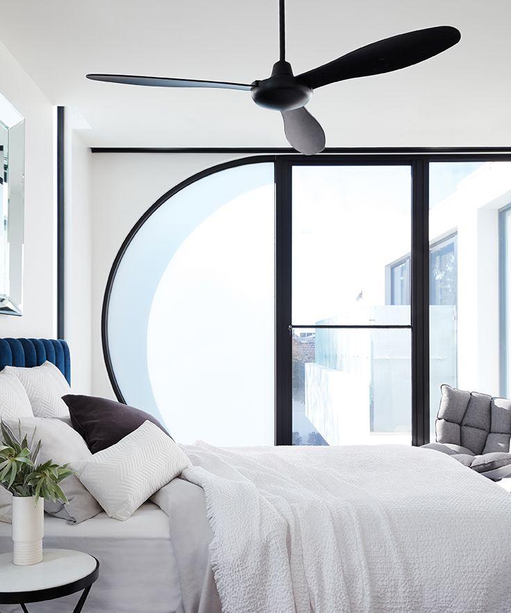 Bayside Jetstream 147cm 3 Blade Fan In Black Living Room Ceiling Fan Black Ceiling Fan